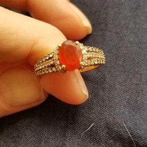 Le vian size 7 fire opal 14k rose gold